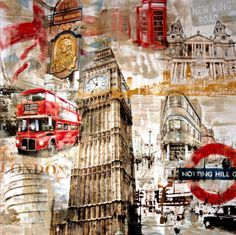 Sketch Book Stretched Canvas Print: In London by Tyler Burke : - Photography Sketchbook, Creative Photography, London City, Arte Gcse, Lightroom, Mixed Media Photography, White Photography, Photography Lighting, London Photography