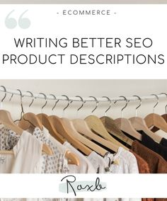 Why are SEO product descriptions so important? How can you take your product copy to the next level? Cool Writing, Ecommerce, Helpful Hints, Seo, How To Find Out, Product Description, Useful Tips, E Commerce