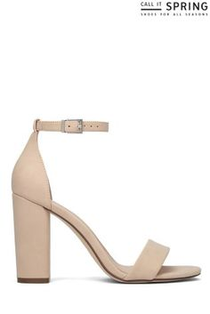 d462f699a0 Buy Call It Spring Block Heel Naked Sandal from the Next UK online shop