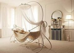 Get Information home decorations ideas and Fairytale indoor hammock bed with decorative stand classy french style interior small sized vanity table with mirror flooring lamp neaby Iron Canopy Bed, Canopy Bedroom, Canopy Beds, Bed Curtains, Diy Canopy, Fabric Canopy, Kids Bedroom, Iron Crib, Ikea Canopy