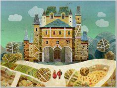 kastely Notre Dame, Folk Art, Taj Mahal, Competition, Wonderland, Mansions, House Styles, Drawings, Children
