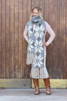 Whether you live in the North Pole or just want to jump on the super scarf trend, this nordic crochet super scarf pattern will keep you feeling warm, but lookin' hot all winter long. Click to download the free c2c graph pattern.