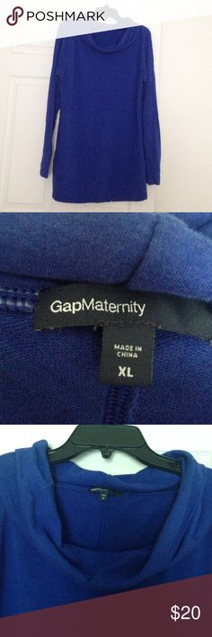 Blue Gap Scoop Neck Maternity Dress or Top Long Sleeve, Scoop Neck, Size XL, Great Condition, 58% Cotton, 36% Modal, 4% Spandex, Depending on your size, this could look great as either a tip or dress with leggings! Gap Sweaters Crew & Scoop Necks