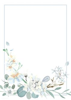 Invitation card with a light blue theme Free Vector Flower Background Wallpaper, Framed Wallpaper, Cute Wallpaper Backgrounds, Flower Backgrounds, Cute Wallpapers, Iphone Wallpaper, Theme Background, Light Blue Background, Invitation Card Design