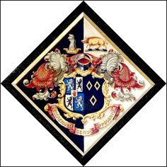 Design point: hatchment border, could use a variety of shapes. Essentially a double border. Baronet, Classic Paintings, Ex Libris, Derbyshire, France, Coat Of Arms, Middle Ages, Diamond Shapes, Funeral