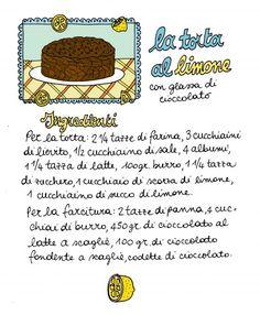 Torta al limone con glassa di cioccolato/1 - ricetta, Aimee Bender