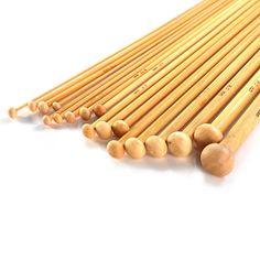 LIHAO Stricknadeln Bambus Set 18 Größe (36 Stk.) 2.0-10.0mm Handarbeit Knitting Needles Crochet Hooks - https://www.amazon.de/dp/B00V675YVG