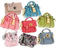 cute pastel tiny purses doll size