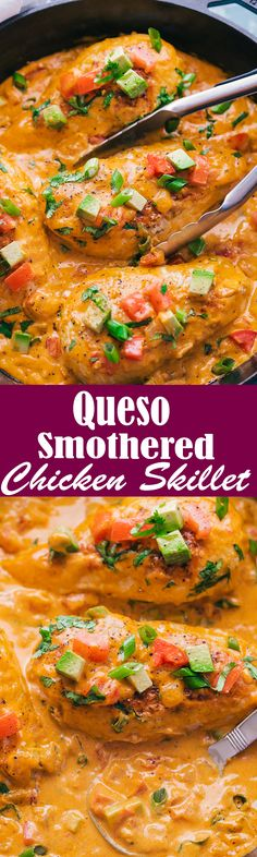Queso Smothered Chicken Skillet