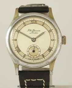 J W BENSON LONDON SMITHS MADE IN ENGLAND ROMAN NUMERAL DIAL DENNISON AQUATITE… We Watch, Roman Numerals, Will Smith, England, Range, London, Watches, Accessories, Wristwatches
