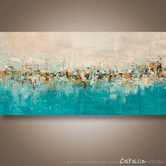 Abstract Palette Knife Painting Modern Painting LARGE by Catalin