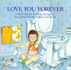 love you forever. Story Picture Book. This book tells the story of a mother rocking her son when he was younger and as the story goes on its the son rocking the mother when she is older.