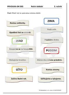 Roční období   datakabinet.cz Homeschooling, Homeschool