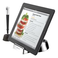 much cooler ipad stand for the kitchen...time to get my recipes organized on my ipad