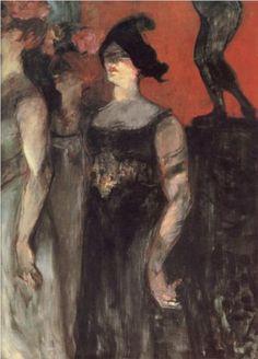 Messaline (between two extras) - Henri de Toulouse-Lautrec