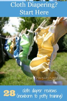 A HUGE collection of detailed cloth diaper reviews (28!) organized by diaper type.