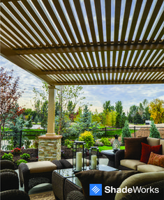 Beautiful AND durable. Upgrade your patio with a ShadeWorks pergola. Estimates are free! Visit ShadeWorks.com to see more.