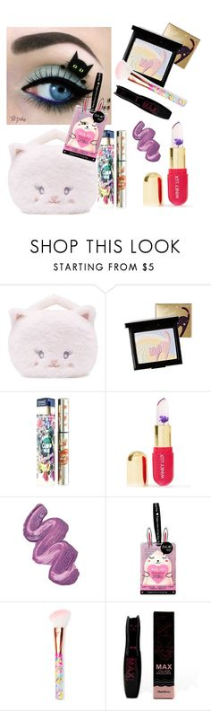 """""""Purrfect makeup"""" by subvilli on Polyvore featuring beauty, Forever 21, Holika Holika, Teeez, Winky Lux, Violet Voss, Oh K! and Glamour Dolls"""