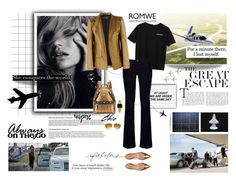 """""""Aircraft Print T-shirt by ROMWE"""" by minojka ❤ liked on Polyvore featuring Armani Jeans, Haider Ackermann, MCM, De Siena, Kaiser, Michael Kors, Casio and romwe"""