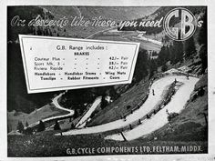 GB brakes advertisement from 1960. #gbbrakes #cyclingmemorabilia #hookedoncycling #cyclingadvertising #cyclingadvert #bicyclelife #cyclelifestyle #roadbicycle #graphicdesign #advertising #lovecycling #advertisement #cyclepassion #eroica #bicyclepassion #roadcycling #cycletouring #cycleracers #lightweightbicycle #cyclingfans #vintagecycling #retrocycling