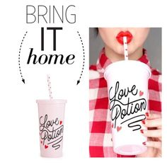 """Bring It Home: Ban.do Love Potion Sip Sip Tumbler"" by polyvore-editorial ❤ liked on Polyvore featuring interior, interiors, interior design, home, home decor, interior decorating, ban.do and bringithome"