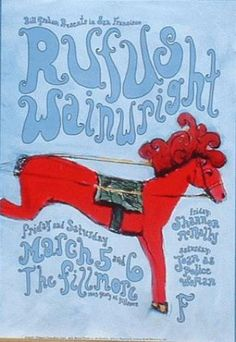 Concert poster from The Fillmore in San Francisco. Art by Bonnie Tompkins. 13x19 card stock. F611