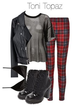 A fashion look from January 2018 featuring short sleeve t shirt, belted jacket and elastic waistband pants. Browse and shop related looks. Cute Emo Outfits, Edgy Outfits, Weekly Outfits, College Outfits, Girls Fashion Clothes, Fashion Outfits, Biker Chick Outfit, Riverdale Fashion, Movie Inspired Outfits