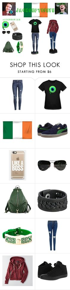 """""""YouTube trend- jacksepticeye"""" by jdmay2003 ❤ liked on Polyvore featuring H&M, Puma, Casetify, Ray-Ban, Rebecca Minkoff, Frye, Versace, American Eagle Outfitters and Converse"""