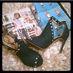 New Denim Heels Beautiful chic denim heels 4 inches will be great with jeans or khaki colored chinos,  shorts or skirts. (New) Shoes Heels