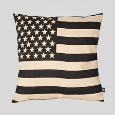Upper Playground - Old Glory Pillow in Black and Khaki Ultimate Man Cave, Playground Design, Shop Up, Old Glory, Creative Design, Color Combinations, Old Things, Throw Pillows, Home