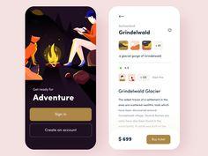 Travel app concept by Sudhan Gowtham for Orizon on Dribbble App Ui Design, User Interface Design, Banks Website, Event App, Mobile Business, Mobile App Ui, Global Design, Mobile Design, Show And Tell