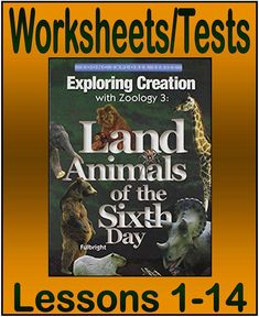Apologia Exploring Creation with Zoology 3: Land Animals of the Sixth Day--Worksheets/Tests - Joy in the Journey Resources | Science | CurrClick