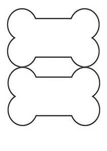 Template for dog bone shape