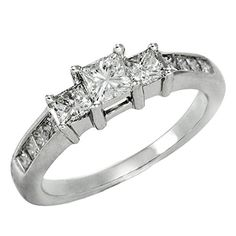 Engagement Rings Simple   100 cttw IGI Certified Diamond Engagement Ring in 14K WhiteGold 1 cttw LM Color I1I2 Clarity  Size 6 *** Check out this great product. Note:It is Affiliate Link to Amazon.