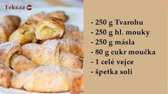 Czech Recipes, Sponge Cake, Desert Recipes, Deserts, Food And Drink, Cooking Recipes, Bread, Snacks, Cookies