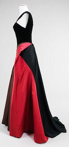 Charles James - Couturier - Robe de Soirée - Soie - 1946