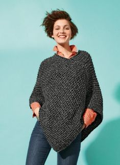 Bergère de France - Mag 164 - #10 - Short poncho - Mag. 164 - I'm a beginner - By magazine - Patterns - yarns and patterns for knitting and crochet