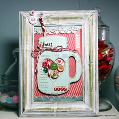 only Katie Watson could do something this brilliant! framed chipboard-love it
