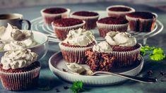 Mini Cupcakes, Red Velvet, Smoothie, Panna Cotta, Breakfast, Ethnic Recipes, Desserts, Food, Hama
