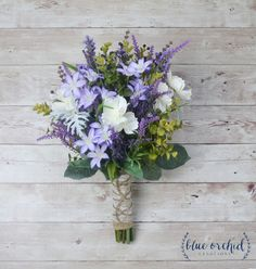 Wildflower Bouquet Lavender Bouquet Purple Bouquet Fall