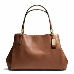 MADISON CAFE CARRYALL IN LEATHER - CHESTNUT #coach
