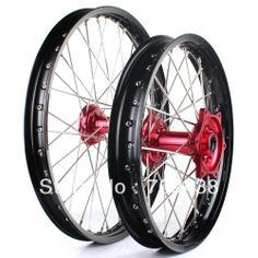 1 set Wheel Rim Hub Spoke Motorcycle Wheels Front 21x1.6 Rear 18x2.15 For HONDA CRF 250 450 R 2002 2004 2005 2006 2007 2008 Red $559.00
