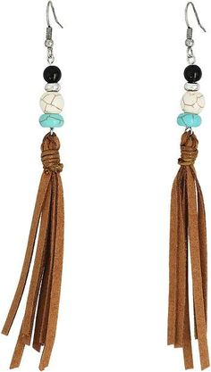 M&F Western - Bead and Tassel Earrings Earring