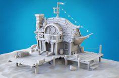 ArtStation - 3D pirate tavern, Luca Previdi