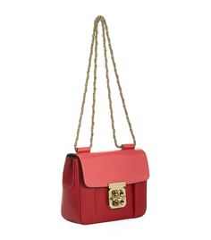 Chloé Red Small Elsie Bicolour Shoulder Bag