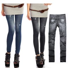 Women's Jeggings Stretch Skinny Leggings Tights Pencil Pants Casual Jeans