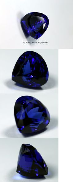 Tanzanite 4195: Natural 32.44 Ct Loose Heart/Pear Shape Tanzanite Violet Blue Aaa+++ Gem -> BUY IT NOW ONLY: $16600 on eBay!