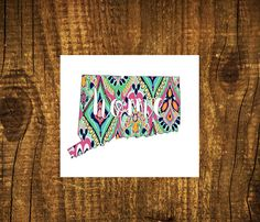 LILLY PULITZER Connecticut Home Decal  by MMVinylCreations on Etsy