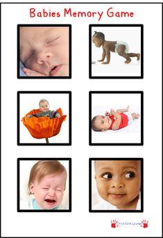 Free Printable Babies Memory Game