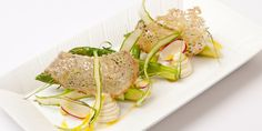 James Durrant's beautiful asparagus and cod mousse starter would make a fine addition to any dinner party